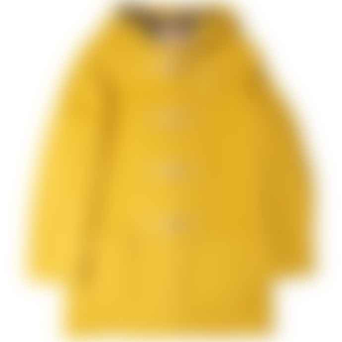 Burrows & Hare  Yellow Water Repellent Wool Duffle Coat