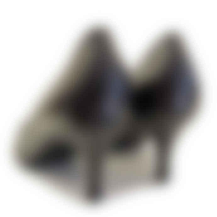Hogl Black 'Queenie' Leather Kitten Heel Shoes