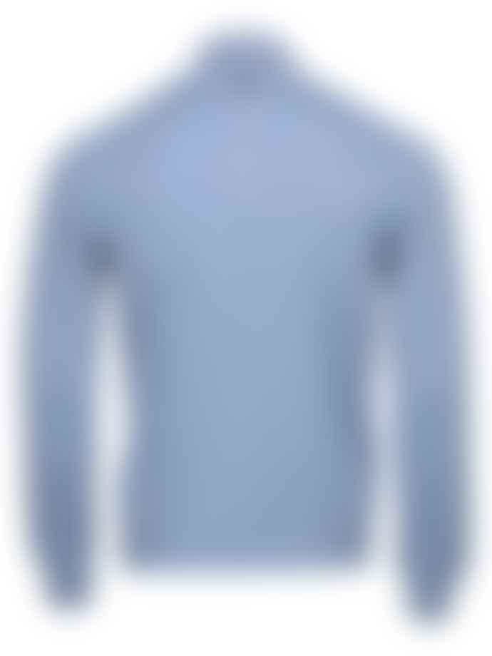 Corneliani  Sky Blue Quarter Zip Cashmere Blend Knit