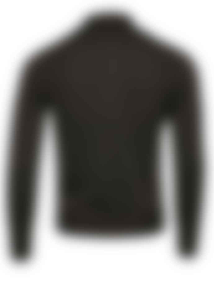 Canali Charcoal Long Sleeve Polo