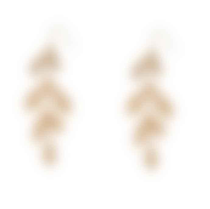 Big Metal Miriam Leaf Drop Earrings
