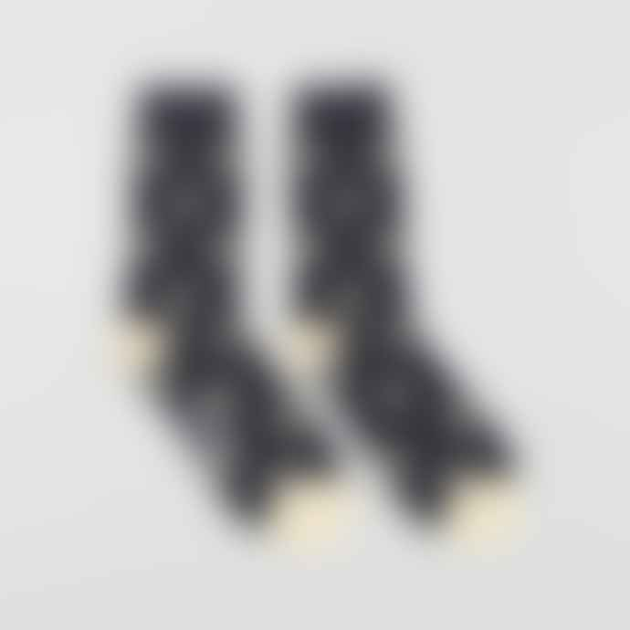 Far Afield Navy Cloud Socks