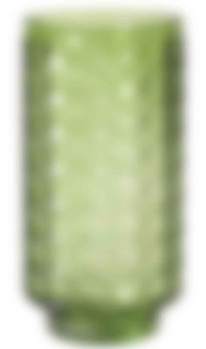 Broste Copenhagen Circle Green Mouthblown Glass Vase
