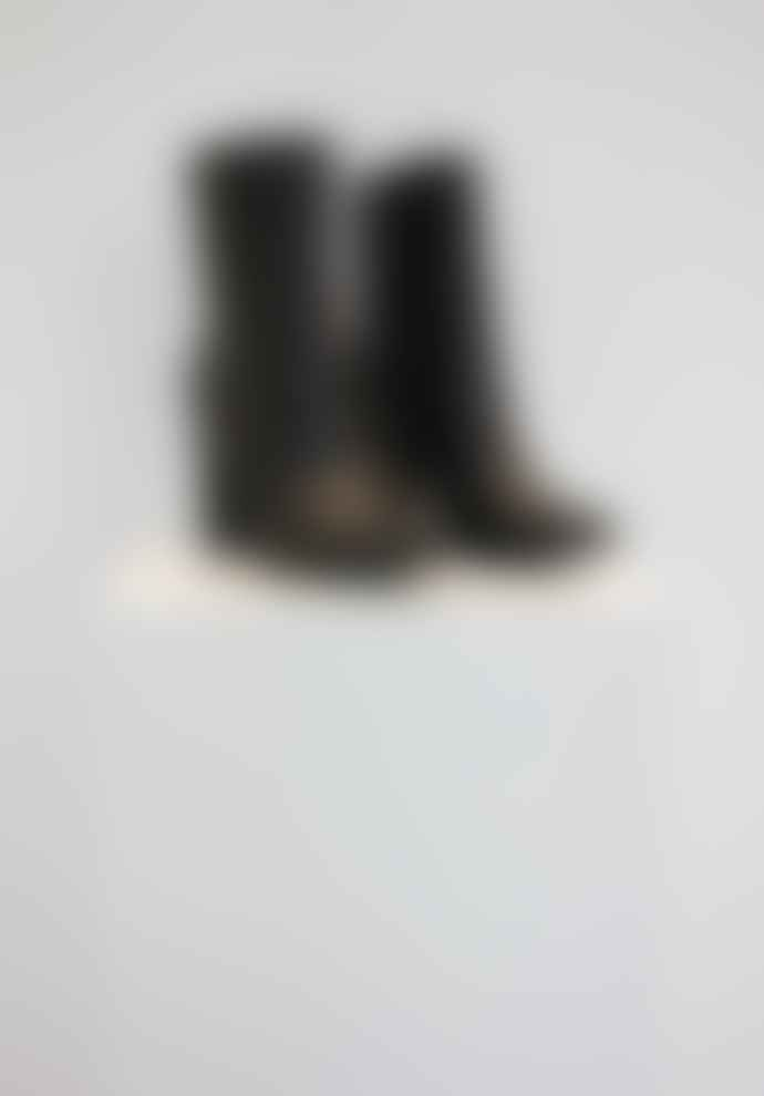 Collection & Co Pelion Black Block Heeled Boot