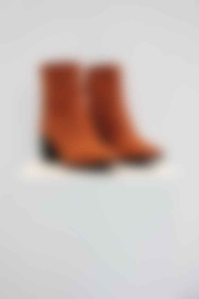 Collection & Co Giona Orange Sqaure Toe Boot