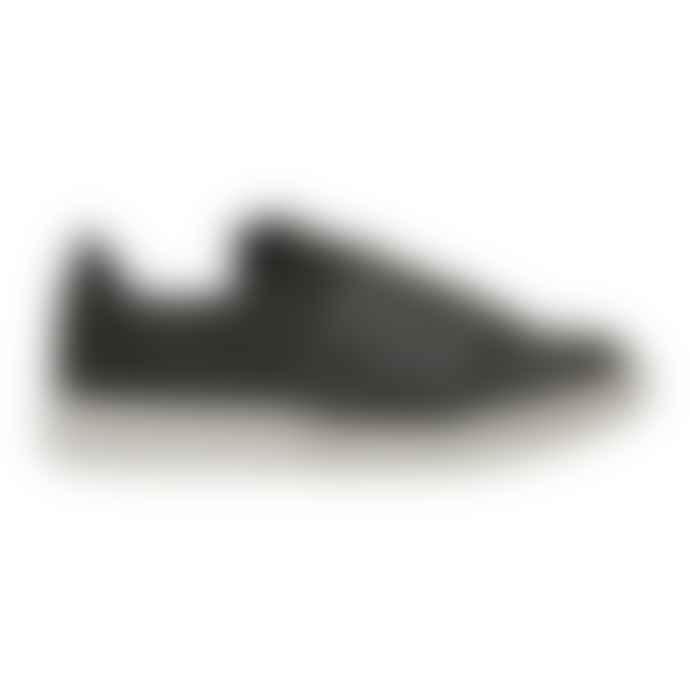 Woden Jenny Seaweed Green Leather Sneakers