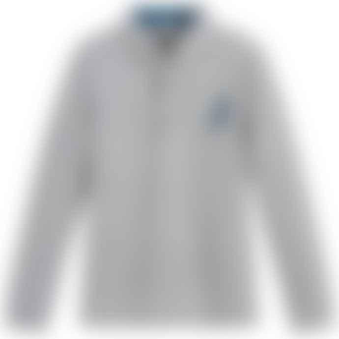 Paul Smith Junior Grey Boys Cotton Long Sleeve 'Scott' Polo Top