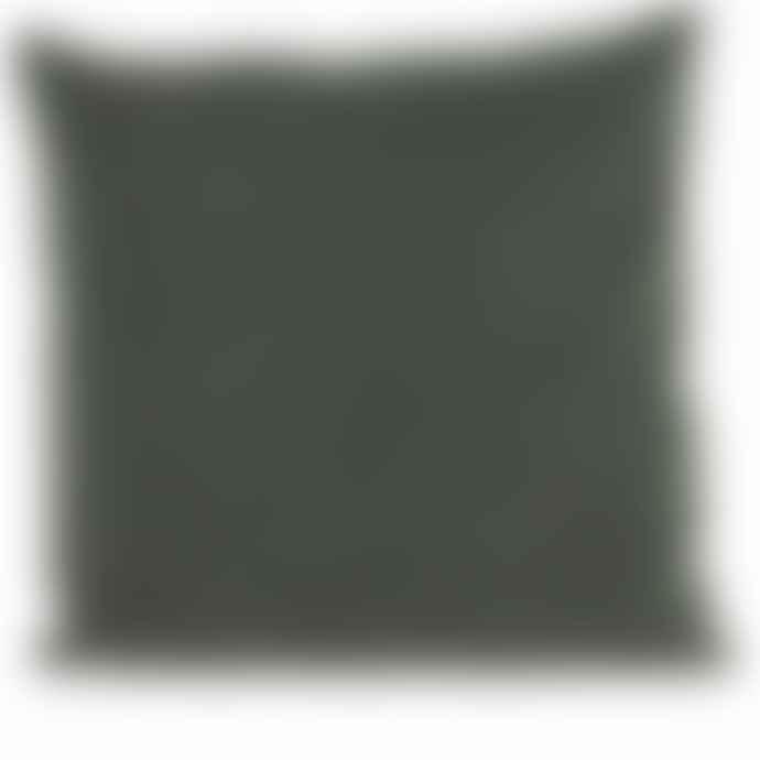 House Doctor Large Beluga Green Velvet Cushion
