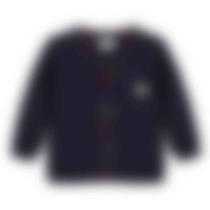 Paul Smith Junior Navy Blue Baby Boys 'Si' Button Down Cardigan