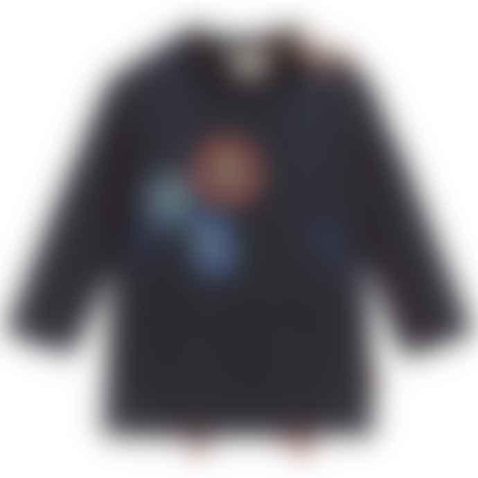 Paul Smith Junior Navy Blue Baby Boys Cotton Jersey Long Sleeve Samy T-Shirt