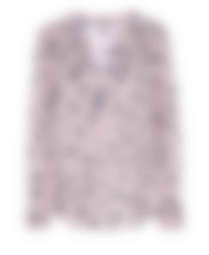 Dea Kudibal Dots Rose Print Santena Slik Blouse