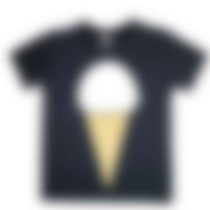 Little Mashers Black Ice Cream Kids T Shirt