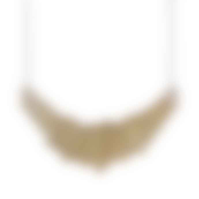 Form London The  Brass and Walnut Wood Stella Necklace