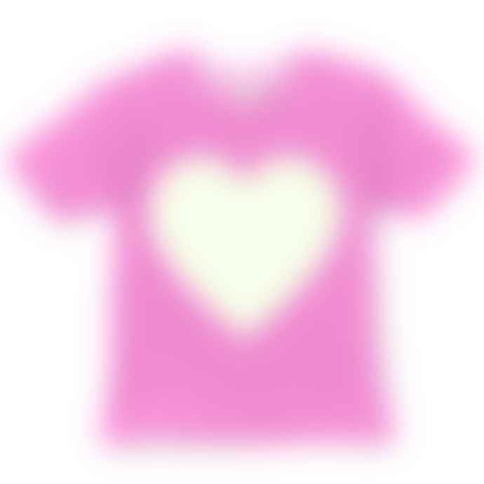 Little Mashers Glow In The Dark Interactive T-Shirt - Heart Design Pink Adult
