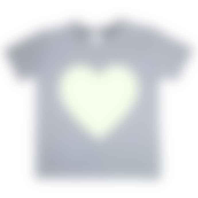 Little Mashers Light Grey Heart Glow In The Dark Interactive T-Shirt