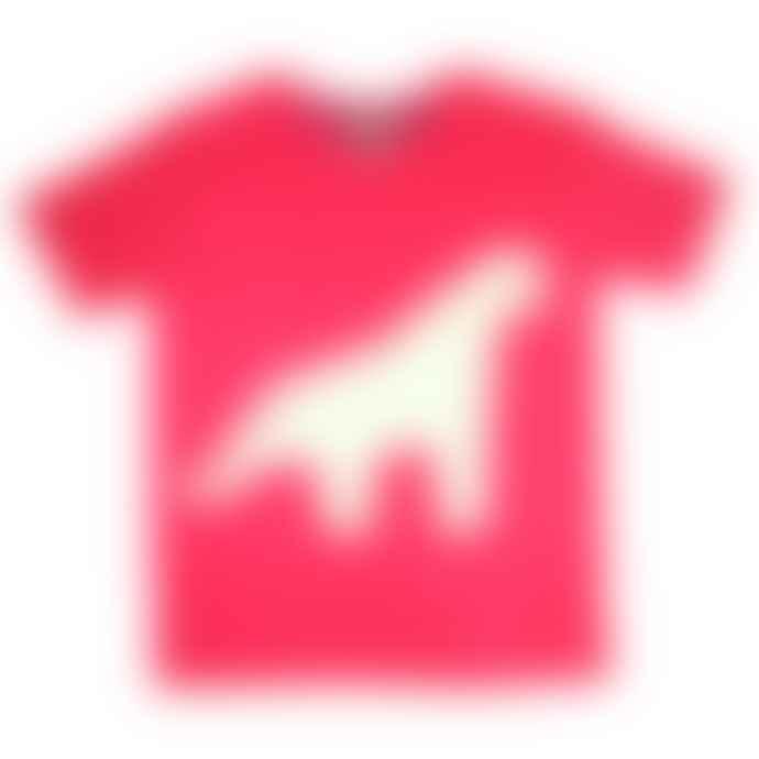 Little Mashers Glow In The Dark Interactive T-Shirt - Dinosaur Design Red