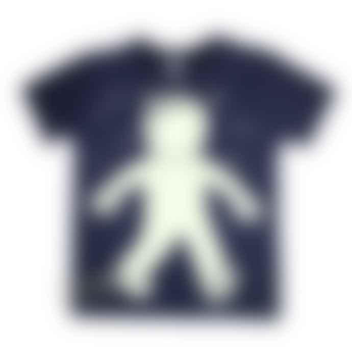 Little Mashers Glow In The Dark Interactive T-Shirt - Spaceman Design Navy