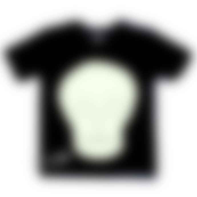 Little Mashers Glow In The Dark Interactive T-Shirt - Skull Design Adult Black
