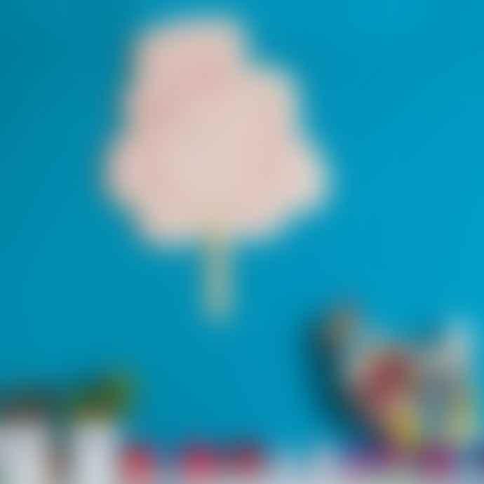 Little Mashers Kids Glow In The Dark Clock - Candy Floss Design