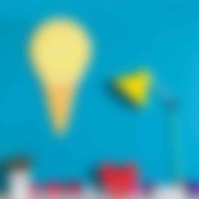 Little Mashers  Kids Glow In The Dark Clock - Ice Cream Design