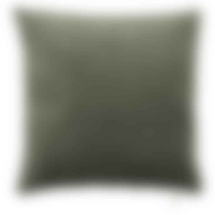 Cozy Living Soft Square Army Green Velvet Cushion