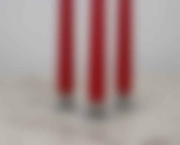 Ester & Erik Pair Of Long Tapered Dining Candles In Christmas Red No.30