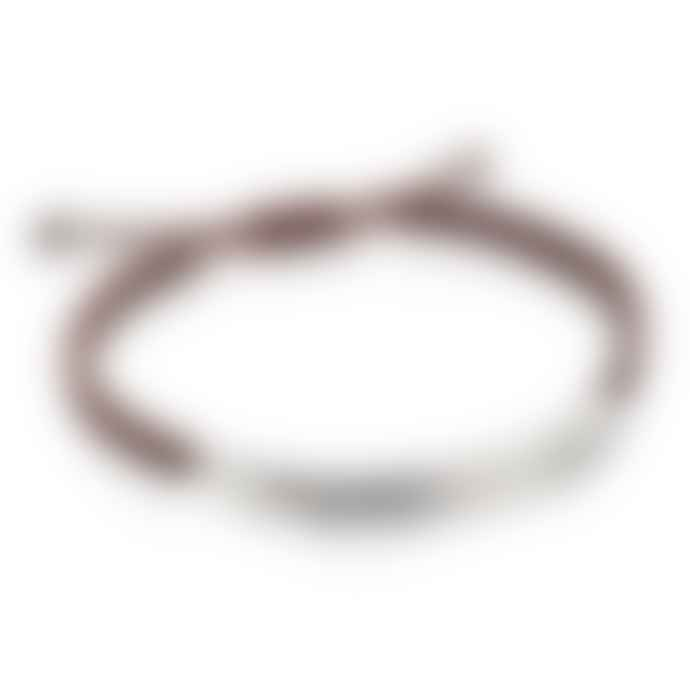 Gecko Brown Chevron Cut Macrame Bracelet