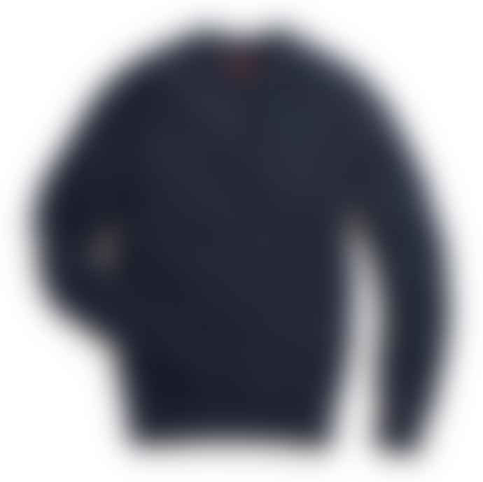 Archie Foal Navy Oskar Cable Knit Sweater