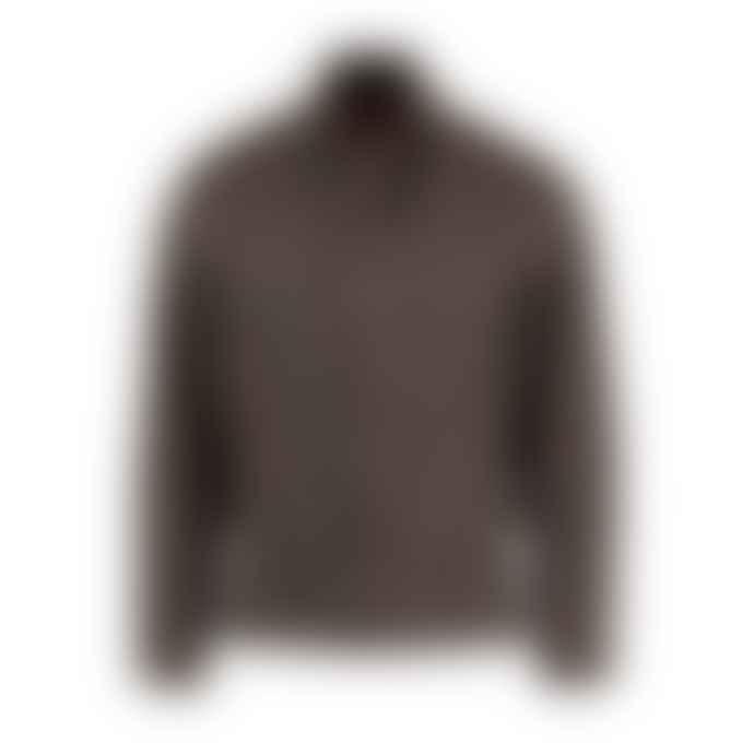 Archie Foal Edgar Tan Wax Cotton Bomber Jacket