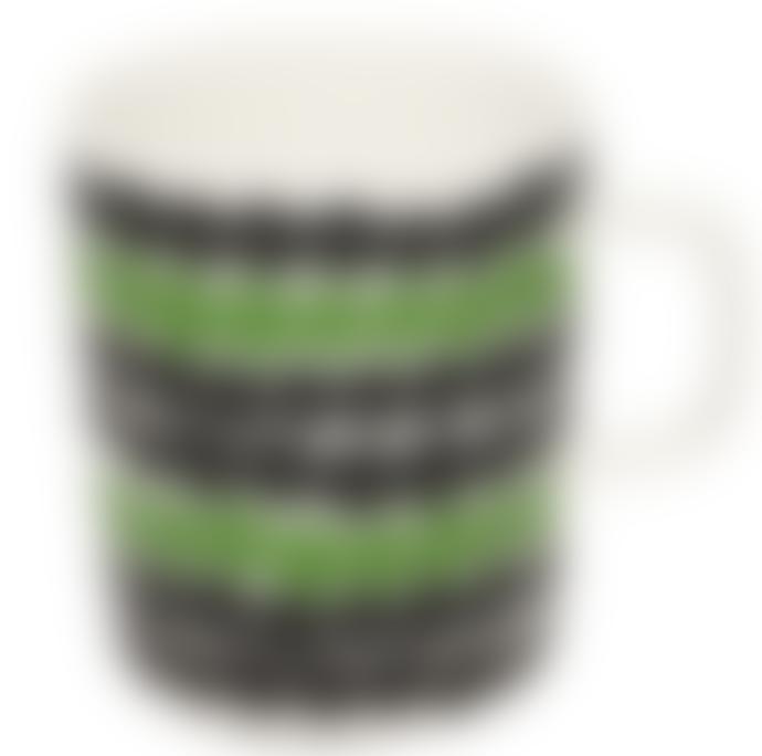 Marimekko  Räsymatto Green And Black Spot Mug