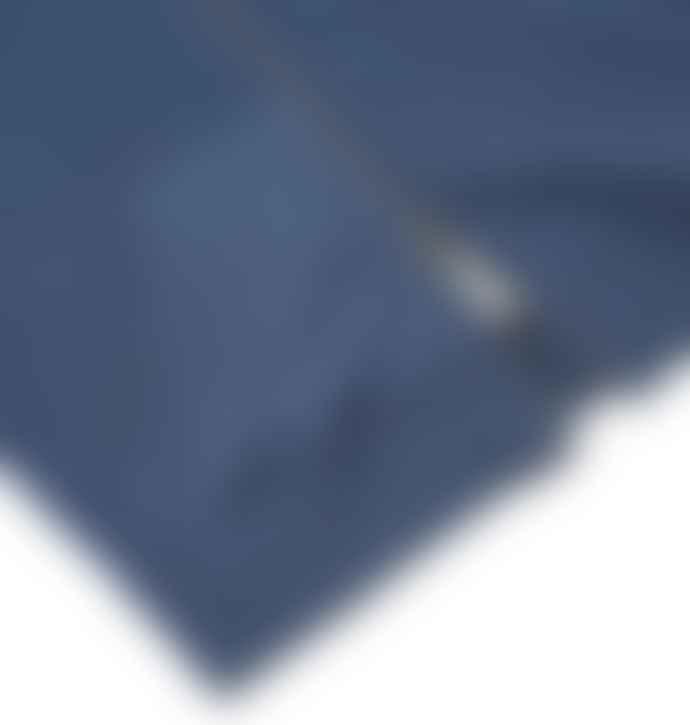 Sunspel Navy Melange Zip Up Hoody