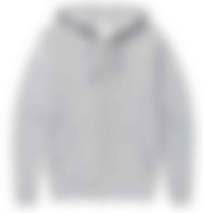 Sunspel Grey Melange Zip Up Hoody