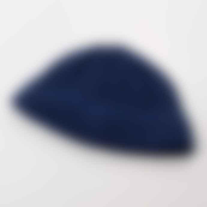 cableami Denim Like Cotton Beanie Blue