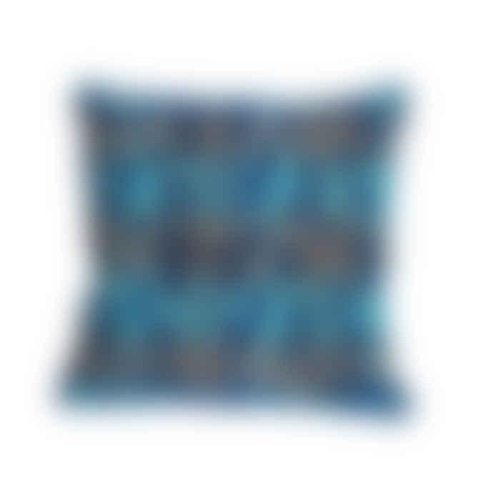 Abstract ikat luxury cushion - design 1