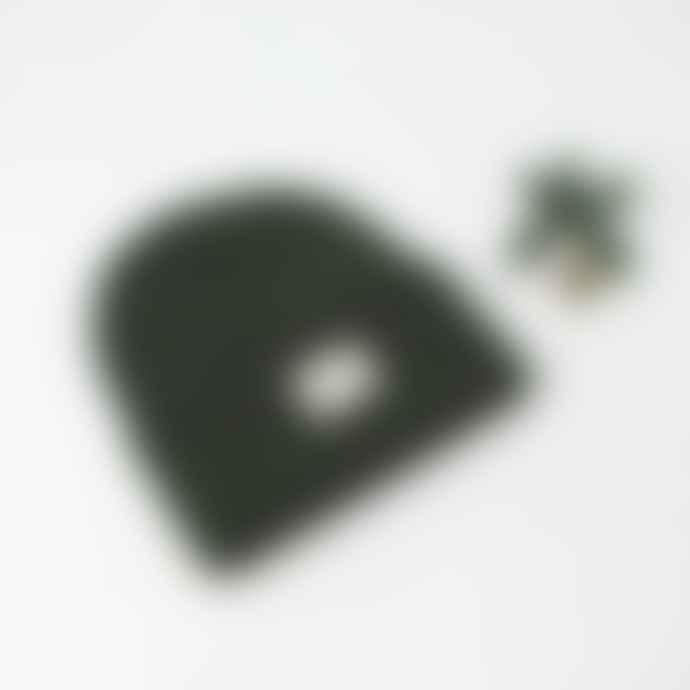IDIOMA Olive Classic Beanie Hat