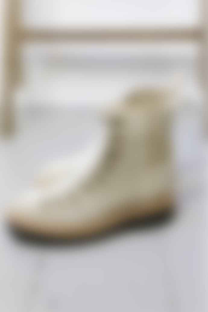 Grenson Nanette Maple Suede Shearling Hiker Boots