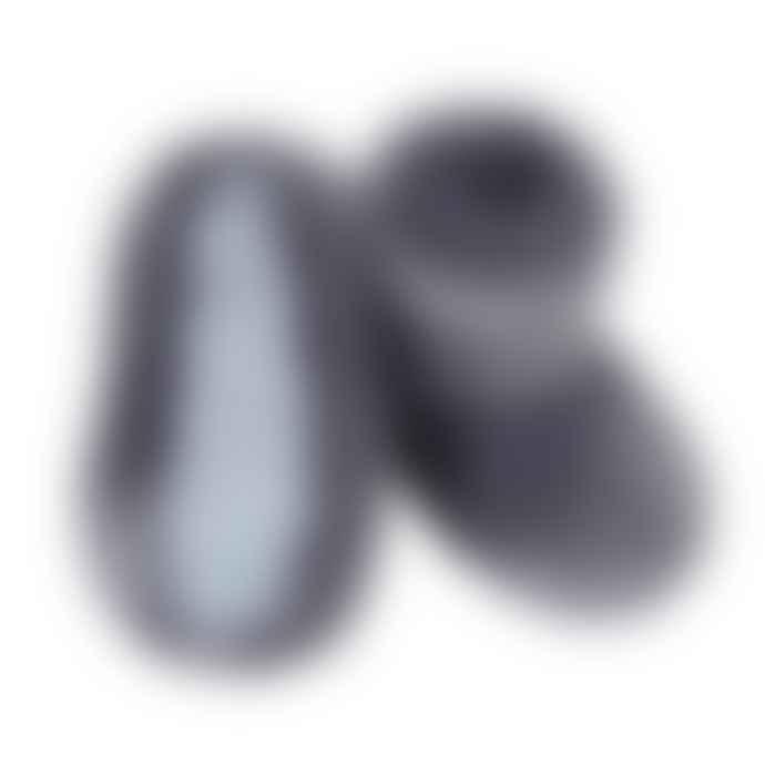 Helen Moore Faux Fur Slipper Boots in Steel