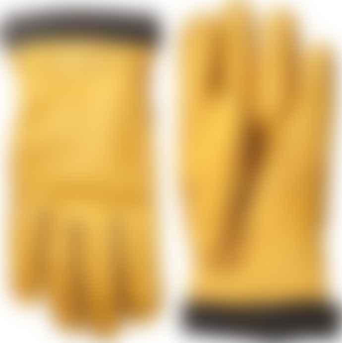 Hestra Natural Yellow Deerskin Primaloft Rib Gloves