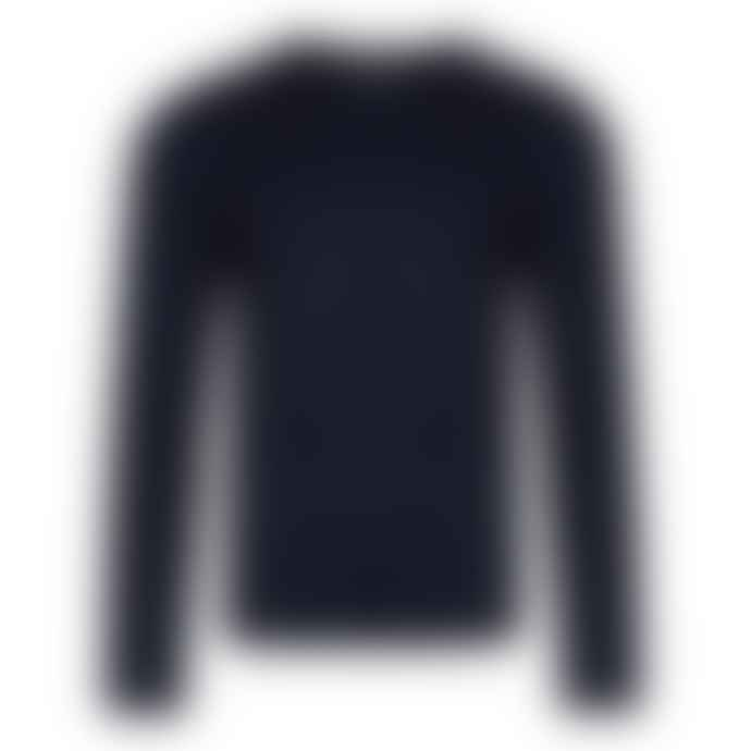Bellfield Navy Basic Fine Knit Jumper