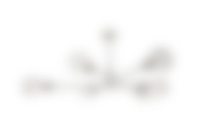 Där Lighting Satin Chrome Alana 6lt Pendant Lighting