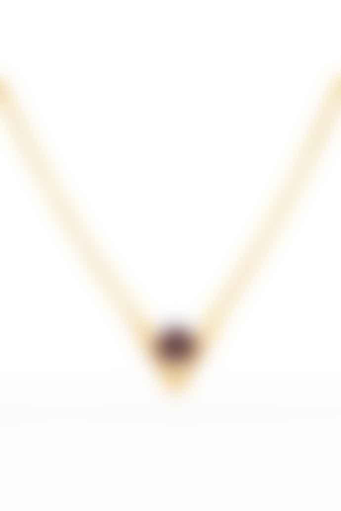 Louise Kragh Dark Purple Inbetween Necklace