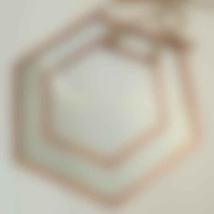 Something Different Small Copper Hexagon Mirror