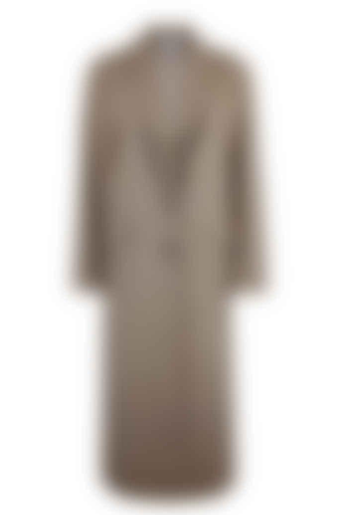 Brown Check Arlette Reefer Coat
