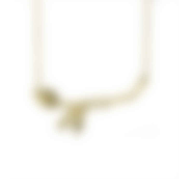 Just Trade  Gold Plated Leaf Necklace