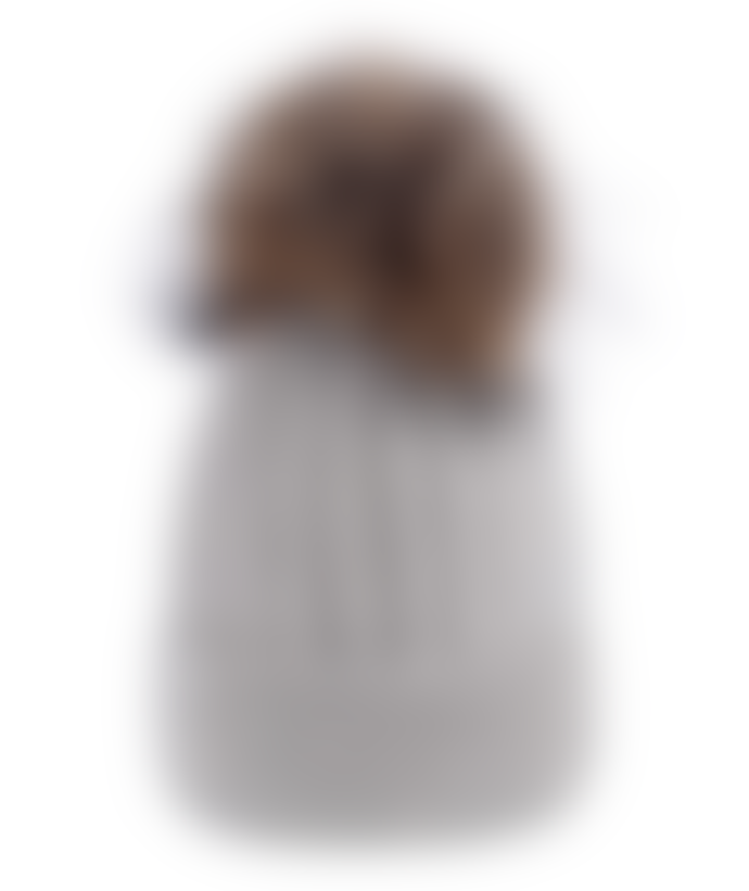 Victoria Beau Grey Wool Bobble Hat