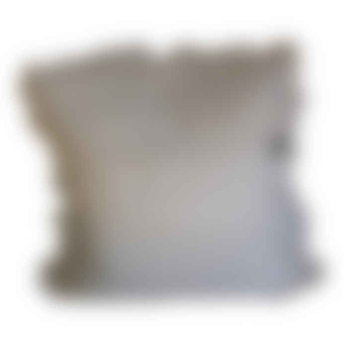 The Grey Works French Linen Cushion With A Frill In Natural
