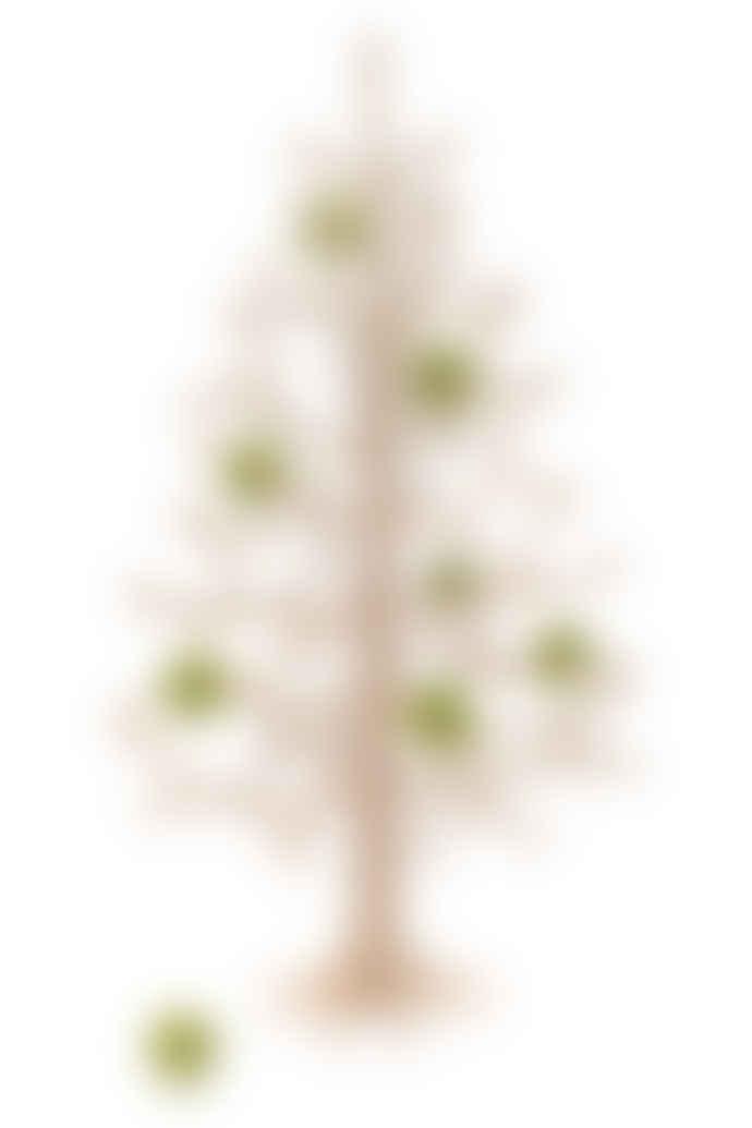 Lovi Set Of 8 Green Mini Baubles