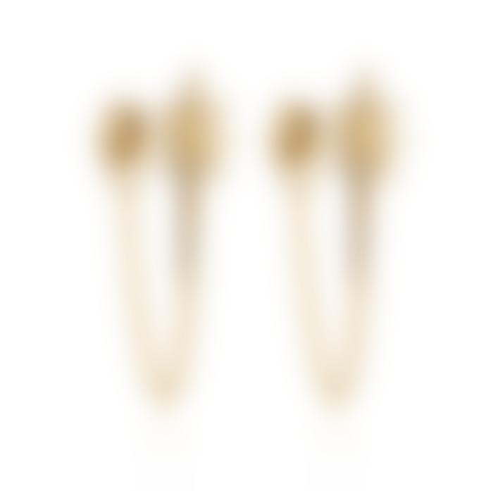 Rachel Jackson Gold Rock Star Chain Earring