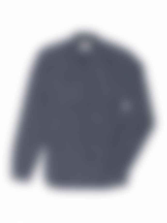 Oliver Spencer Indigo Multi Dallin Clerkenwell Tab Shirt