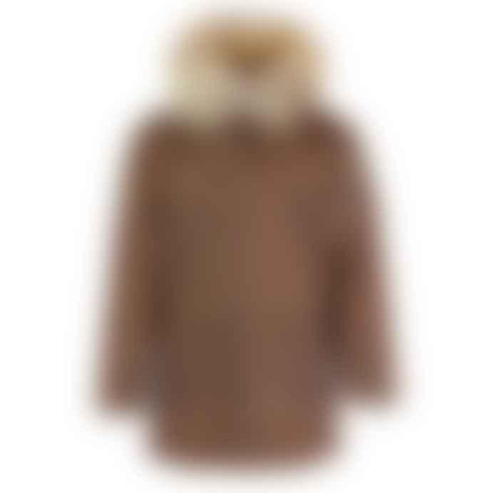 Archie Foal Mens Tan Wax Cotton Down Parka Jacket